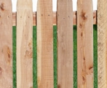 Wooden Fence - No Nail Streaks