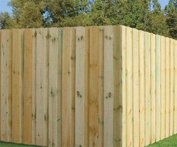 Wood Fence Board-on-Board